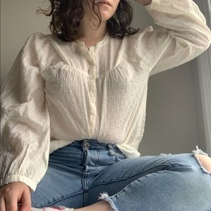 3 for $30💕 NWT Madewell cream blouse